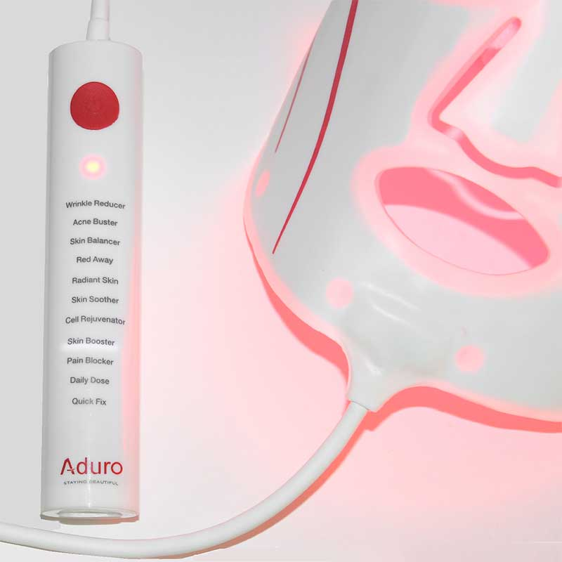 Aduro 7 1 led face mask 7 different colours with infrared booster aduro red light mask solutioingenieria Gallery