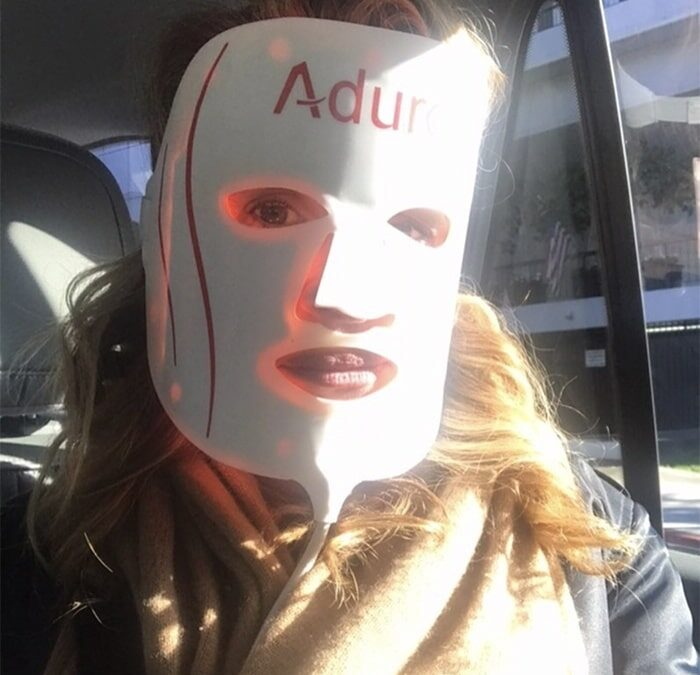 Julia Roberts with the Aduro 7+1 Mask in People Magazine