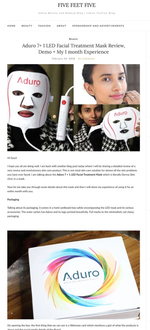 fivifeetfive review Aduro Mask